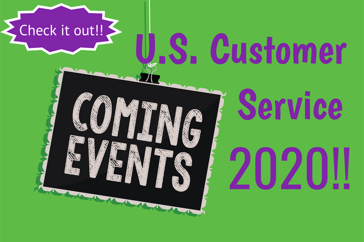 Customer Service Events in the US for 2020