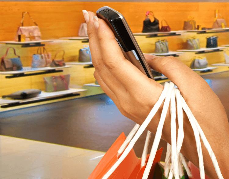 Mobile Phone App Shopping