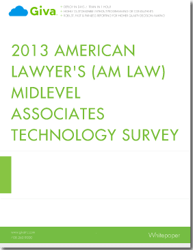 2013 American Lawyer's (AM Law) Midlevel Associates Technology Survey