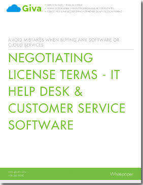 Negotiating License Terms - IT Help Desk & Customer Service Software