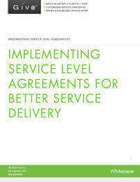 Implementing Service Level Agreements - The critical element in service