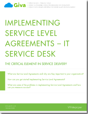 Implementing Service Level Agreements - The critical element in service delivery