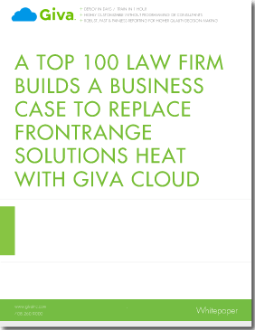 Top 100 Law Firms Replaces FrontRange HEAT with Giva Cloud Computing