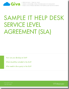 Sample it help desk service level agreement sla giva for Help desk manual template
